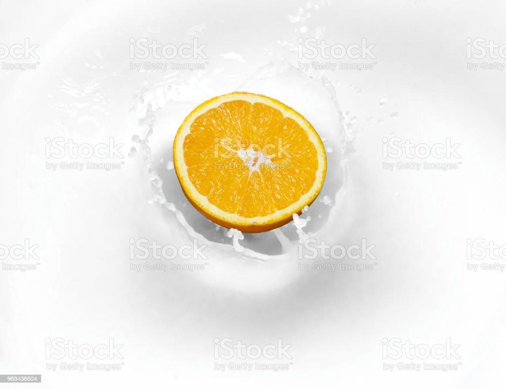 orange lemon Lime in milk for curd healthy food - Zbiór zdjęć royalty-free (Bez ludzi)