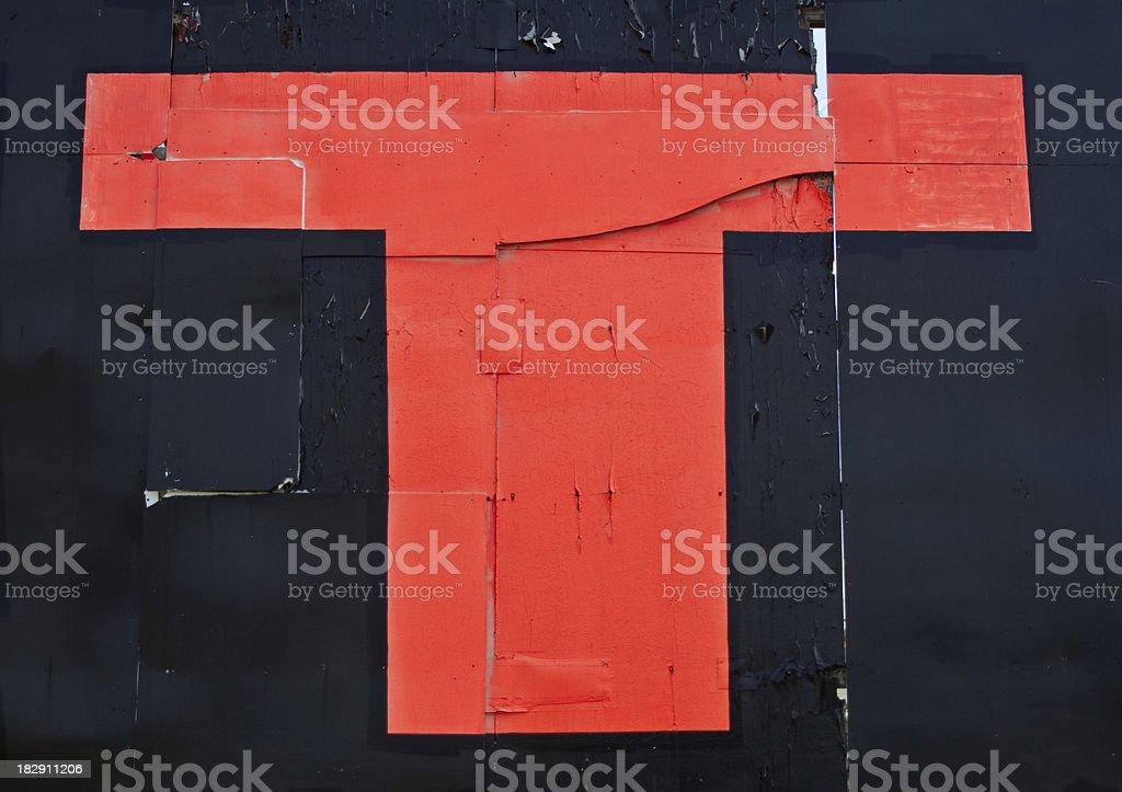Orange Letter T royalty-free stock photo