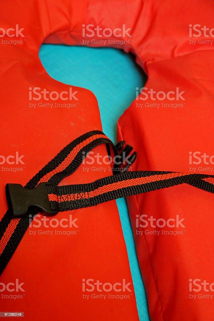 orange lifejacket royalty-free stock photo