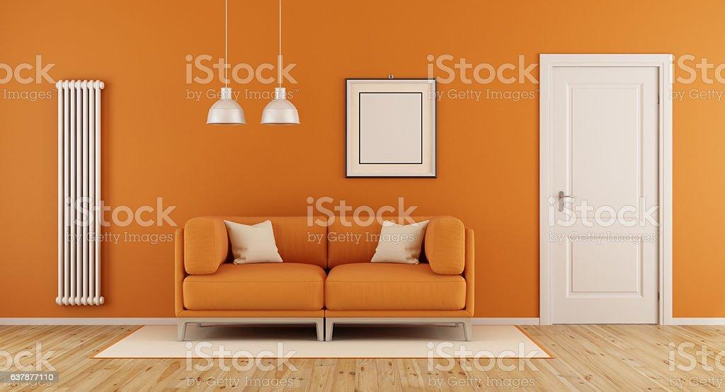 Arancio soggiorno - foto stock