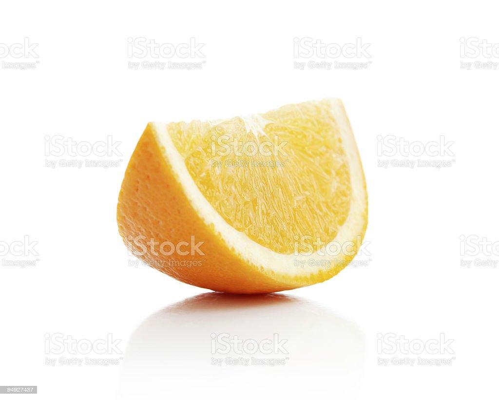 Orange lobule royalty-free stock photo