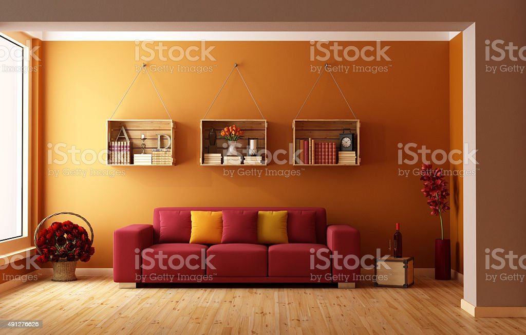 Arancio lounge - foto stock