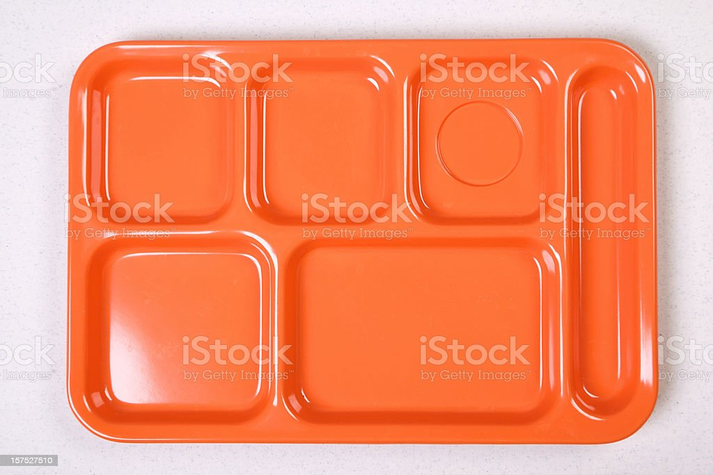 orange lunch tray diet series stock photo