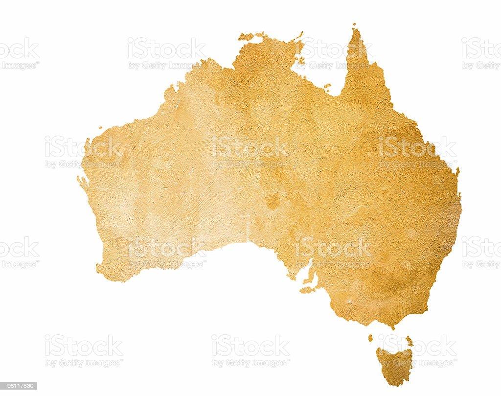 Orange Map Of Australia Isolated On White royalty-free stock photo