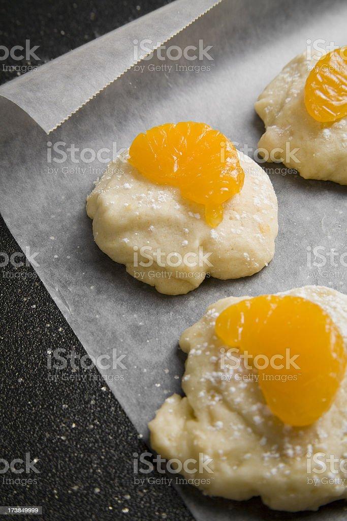 Orange Marmalade Cookies with Mandarin Slices royalty-free stock photo