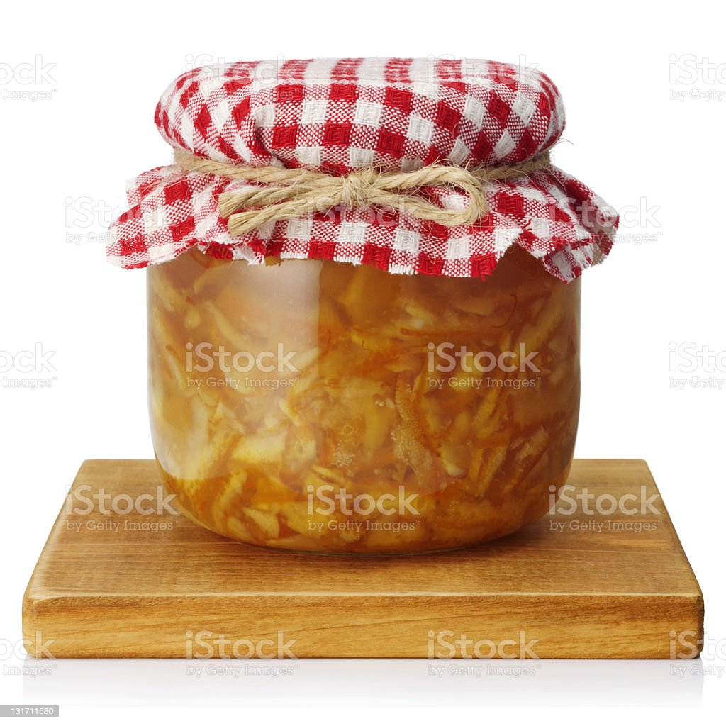 Orange marmalade royalty-free stock photo