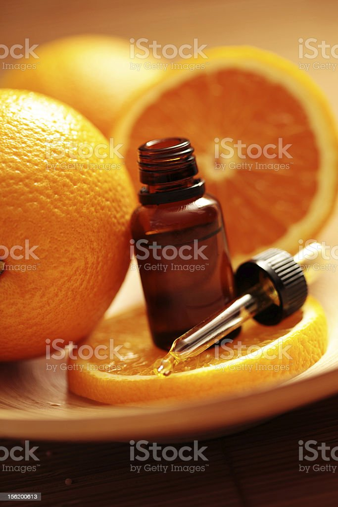 orange massage oil royalty-free stock photo