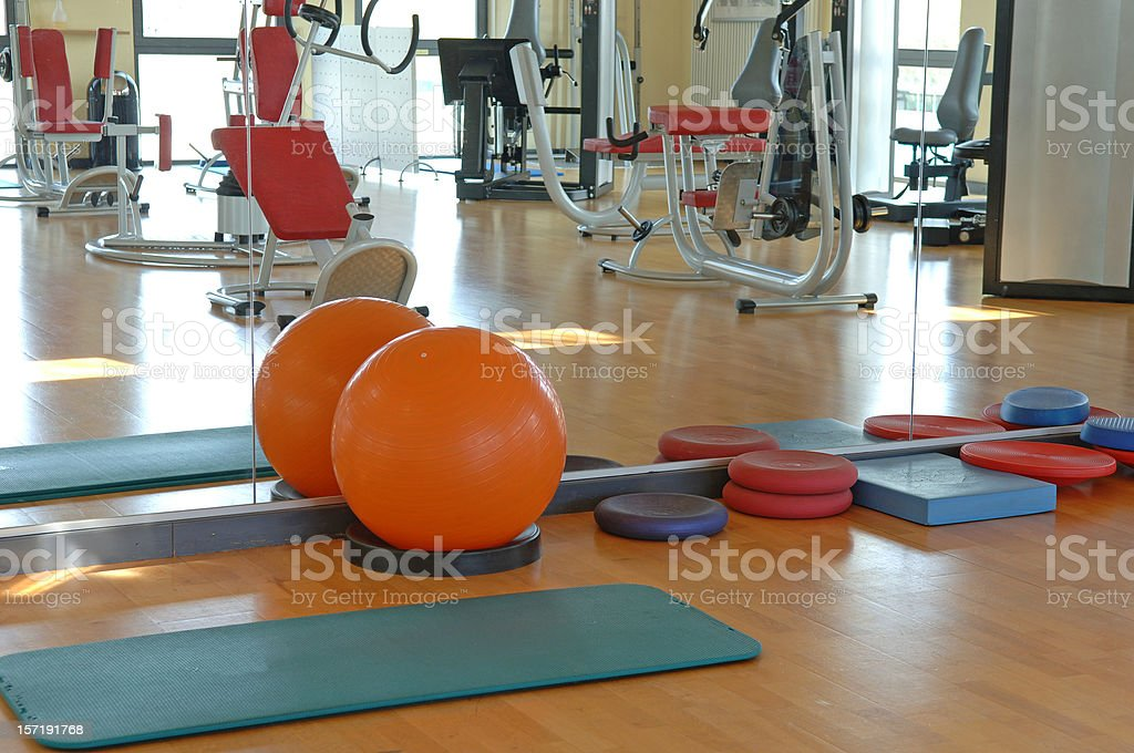 Orange medicine ball royalty-free stock photo