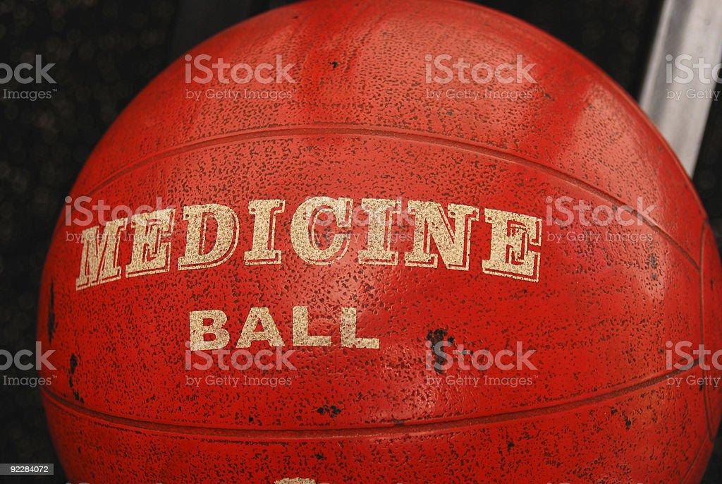 orange medicine ball stock photo