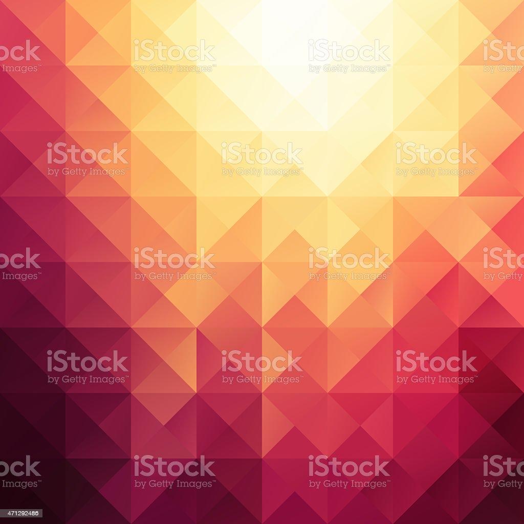Orange Mosaic Background, Creative Design Templates stock photo