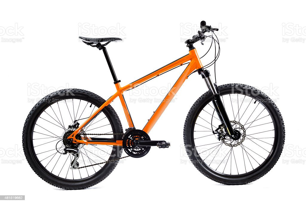 Orange Mountain Bicycle stock photo
