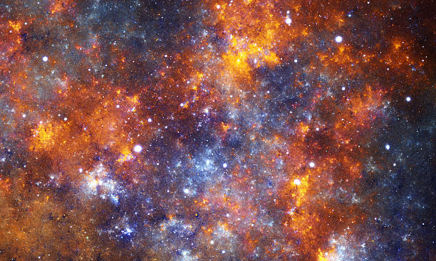 Orange nebula stock photo