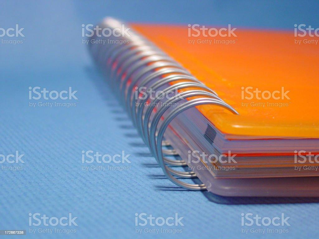 orange notebook 3 royalty-free stock photo