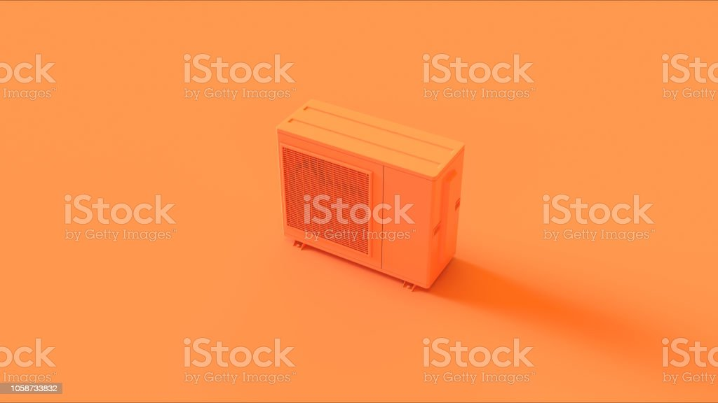 Orange Office Air Conditioner stock photo