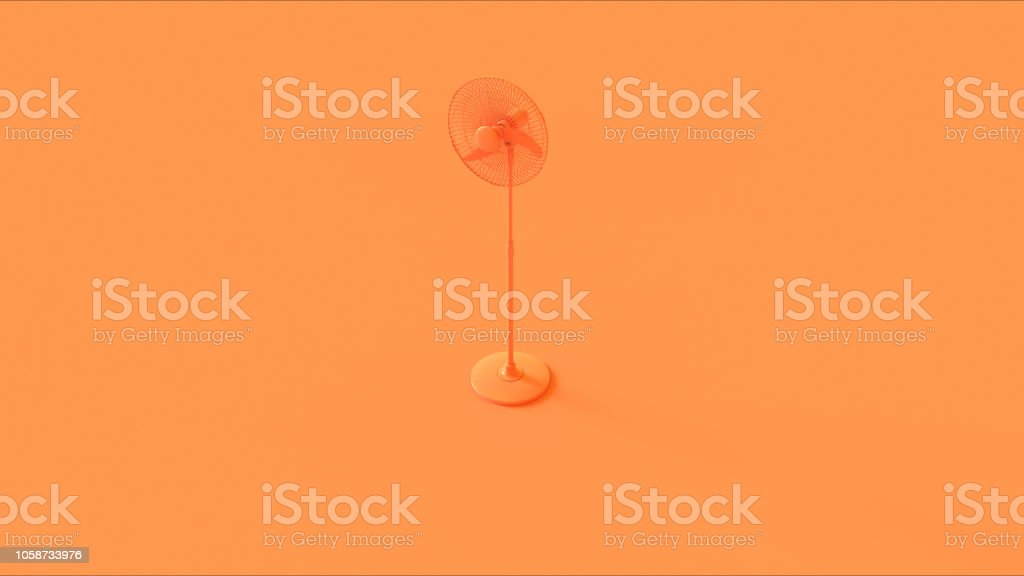 Orange Office Cooling fan stock photo