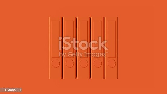 istock Orange Office Ring Binders 1143866224