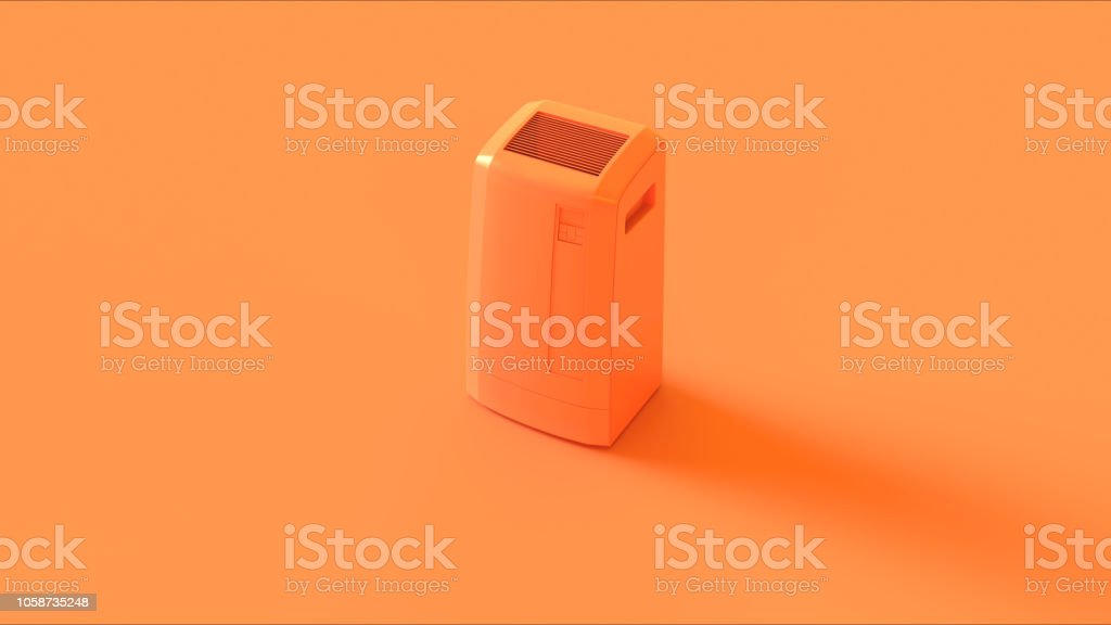 Orange Office Server Room Cooler stock photo