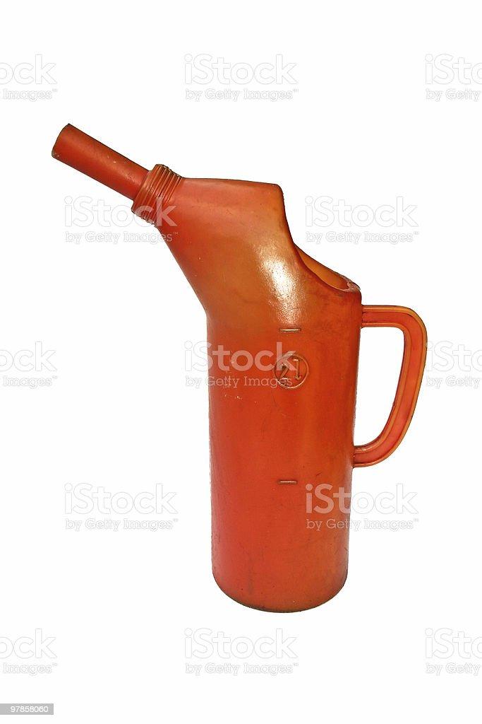 Orange Oilcan royalty-free stock photo