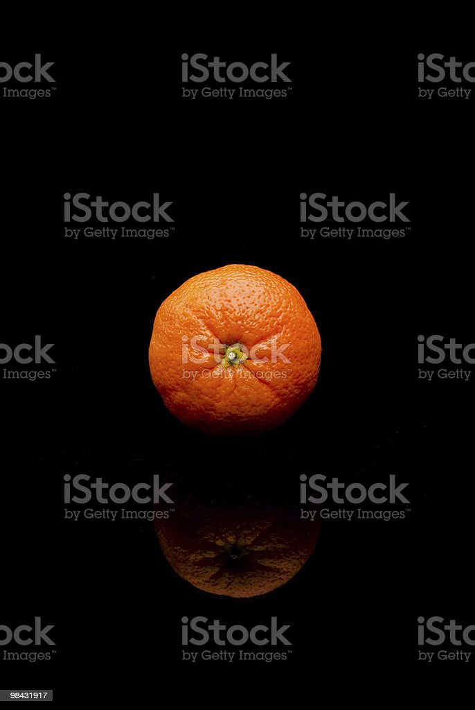 orange on black royalty-free stock photo