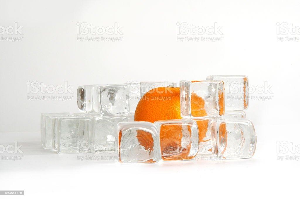 Orange on Ice royalty-free stock photo