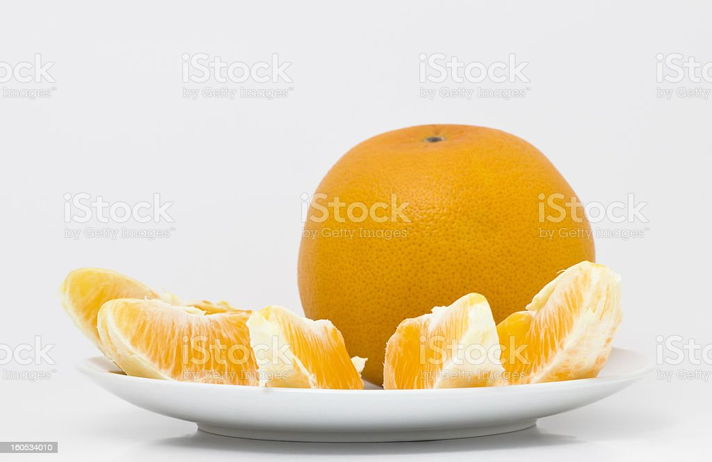 orange on the plate royalty-free stock photo