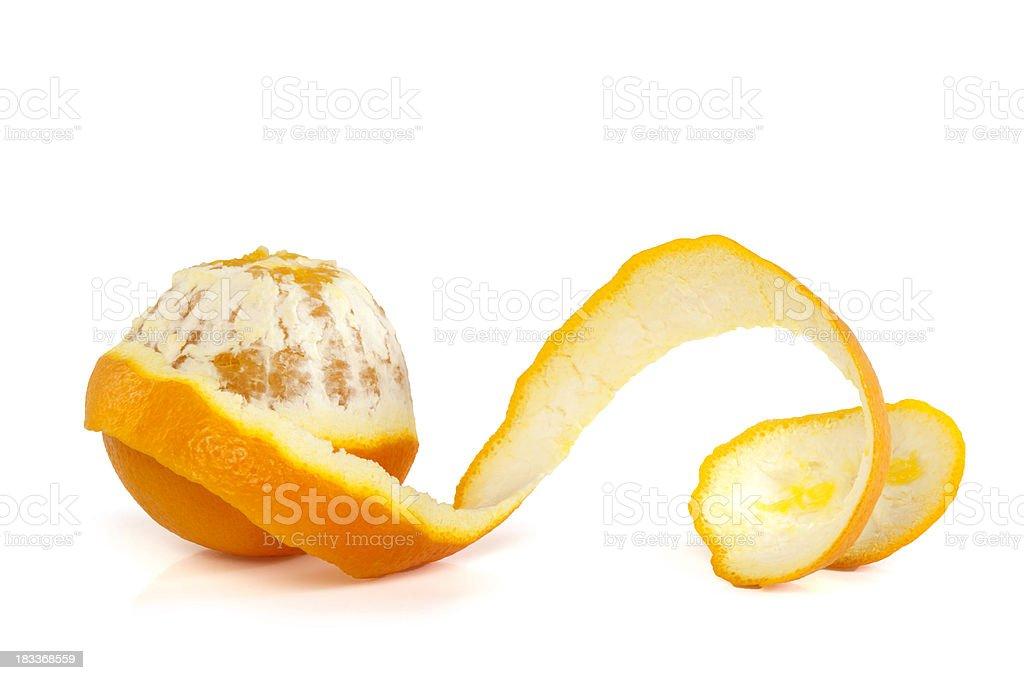 Orange on White Background royalty-free stock photo