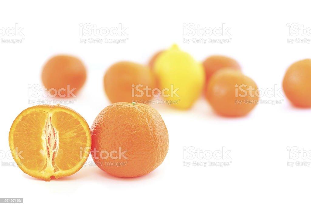 orange on white royalty-free stock photo