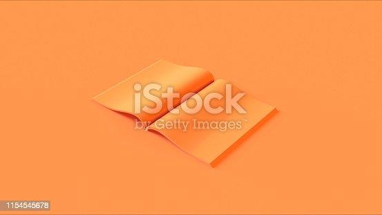 istock Orange Open Magazine 1154545678