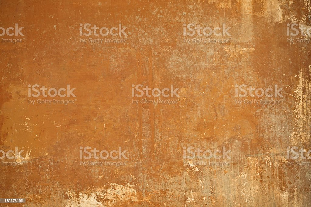 Orange or brown Roman wall texture in Rome, Italy royalty-free stock photo
