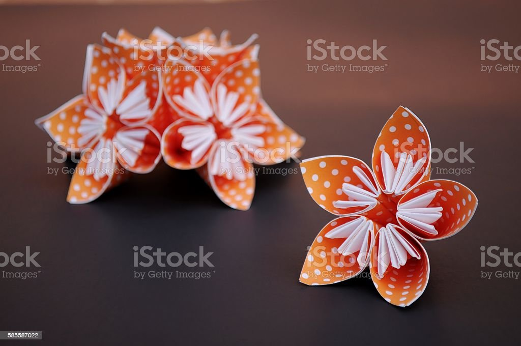 Orange origami flowers stock photo more pictures of arrangement orange origami flowers royalty free stock photo mightylinksfo