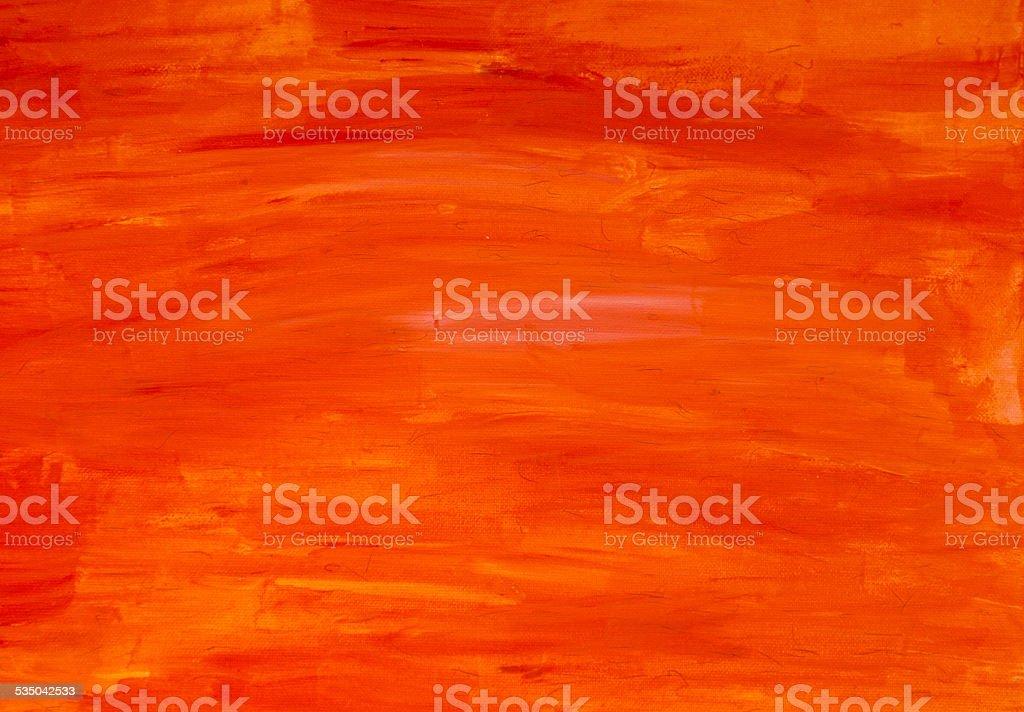 Orange painted canvas background stock photo