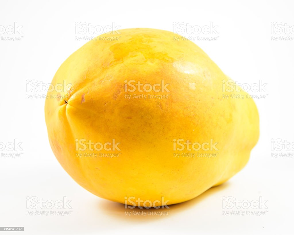 Orange papaya on white background. royalty-free stock photo