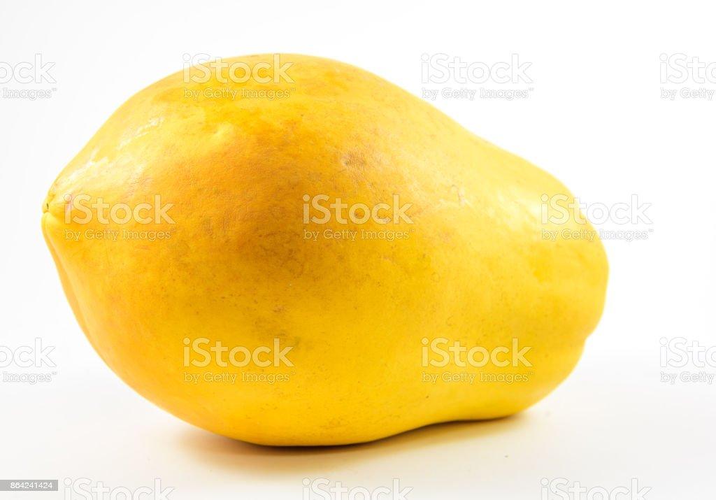 Orange papaya on white background. royalty-free stock photo