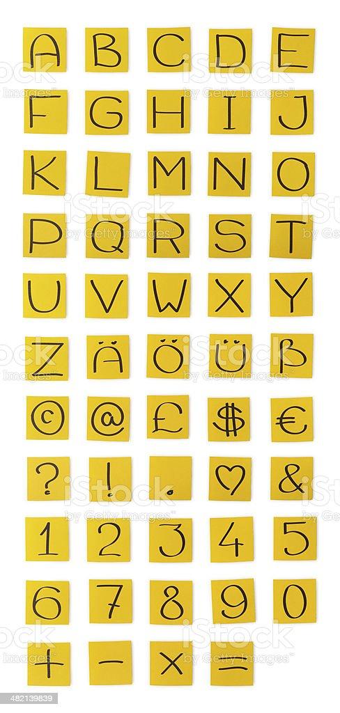 'Orange paper' alphabet. Capital letters. royalty-free stock photo