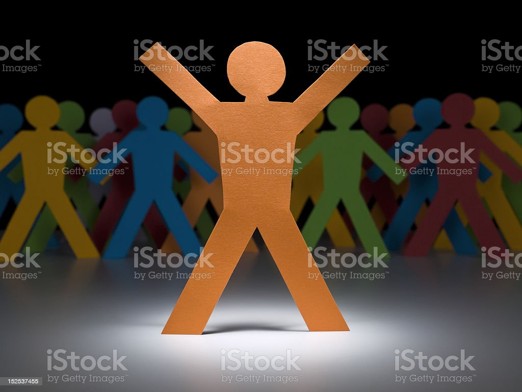 Orange paper figure royalty-free stock photo