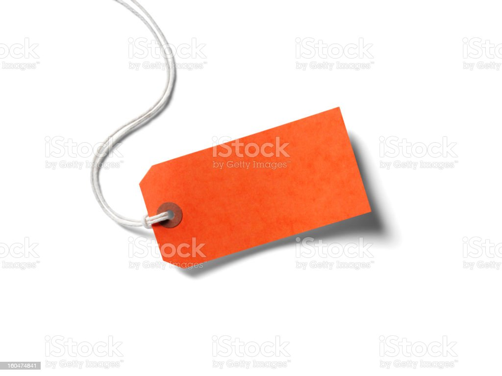 Orange Paper Label stock photo
