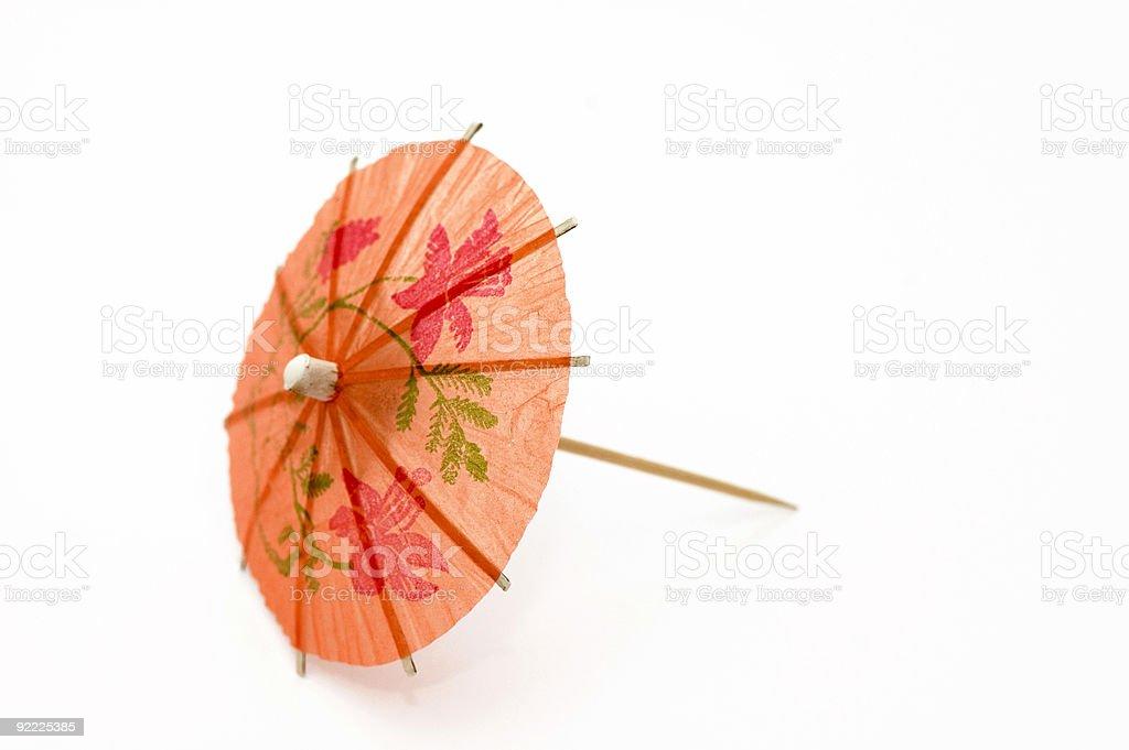 Orange Party Umbrella royalty-free stock photo