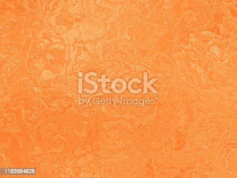 Orange Peach Grunge Texture Abstract Marble Stucco Plaster Pattern Background Copy Space Design template for presentation, flyer, card, poster, brochure, banner