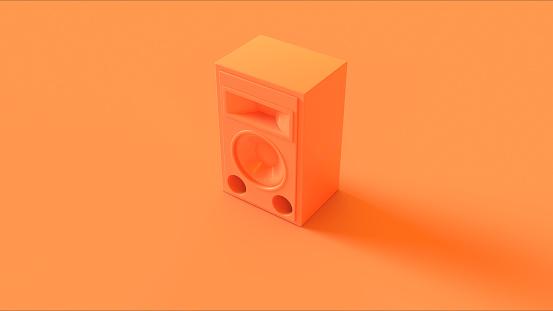 Orange / Peach Speaker isolate / 3d illustration / 3d rendering