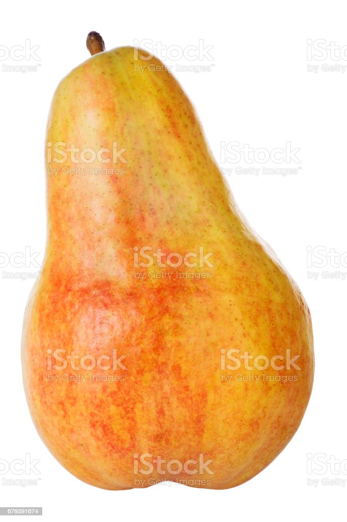orange pear isolated on white royalty-free stock photo