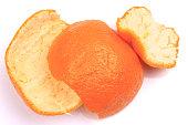 Christmas spice dried orange on bright orange background