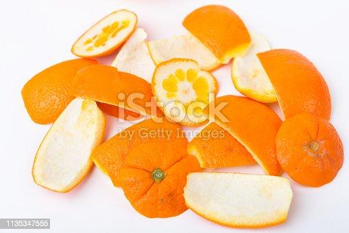 Lebensmittelreste von Orangen