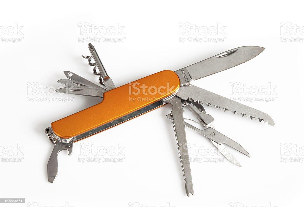 Orange penknife royalty-free stock photo