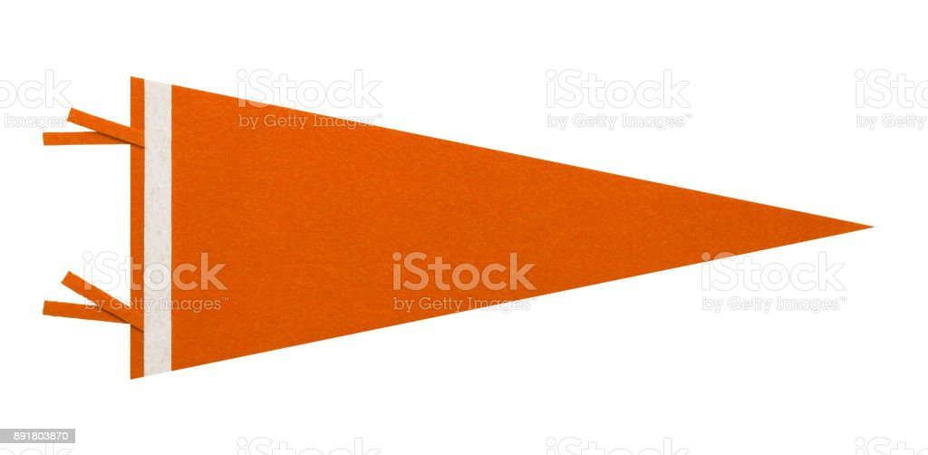 Orange Pennant stock photo