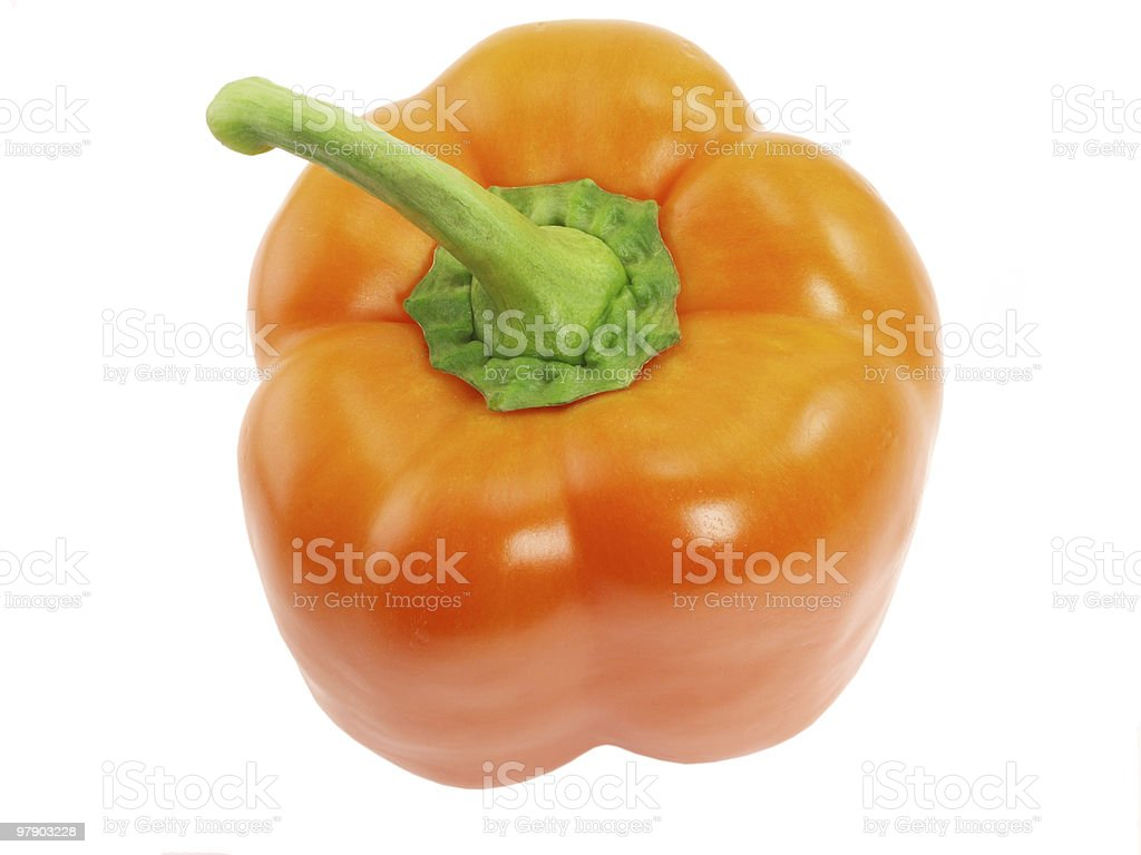 Orange pepper on top royalty-free stock photo