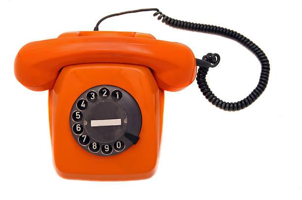 Orange Phone stock photo