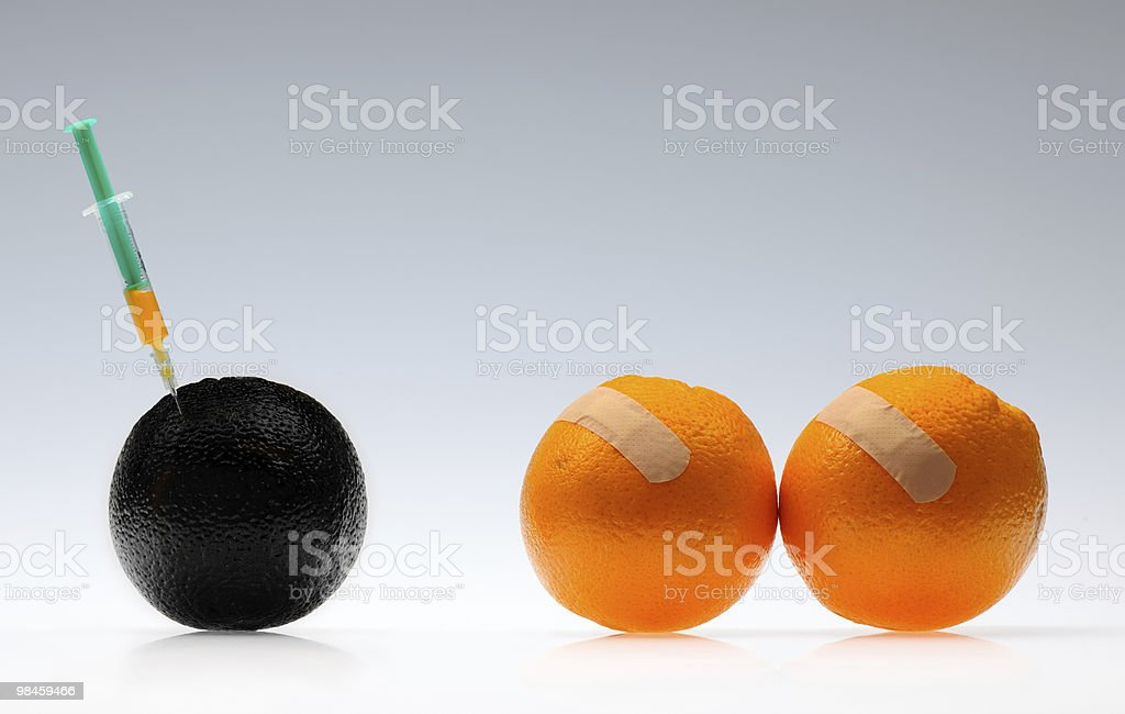 GMO orange royalty-free stock photo