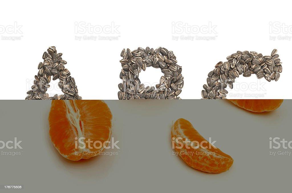 Orange Pieces royalty-free stock photo