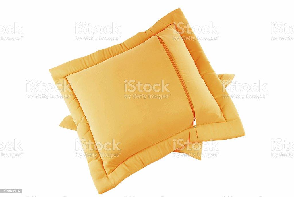 Orange Pillow royalty-free stock photo