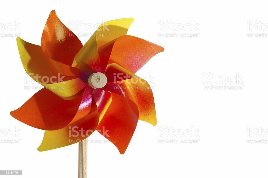 orange pinwheel 2 royalty-free stock photo